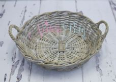 Grey wash Round Basket